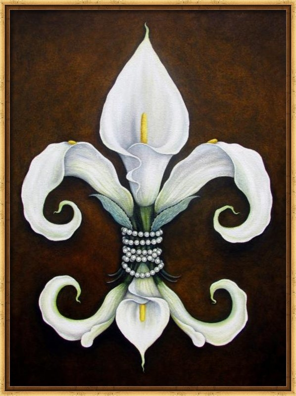 Judy Merrell - Flower of New Orleans Whi... Print