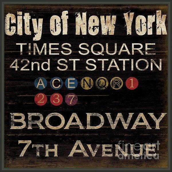 Grace Pullen - New York Subway Print