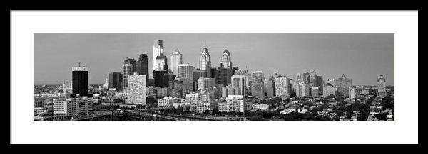 Jon Holiday - Philadelphia Skyline Blac... Print