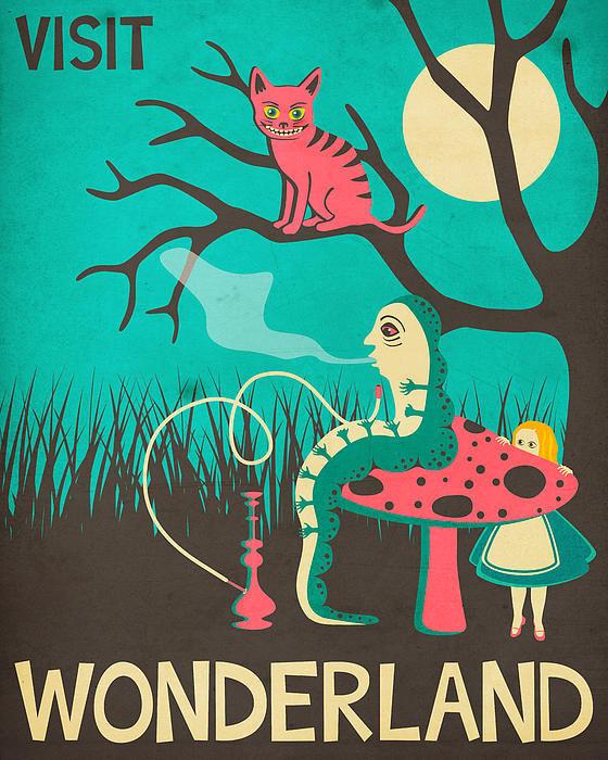 Jazzberry Blue - Alice in Wonderland Trave... Print