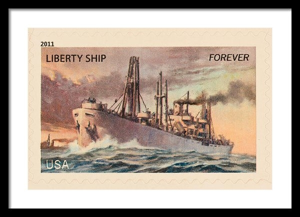 Heidi Smith - Liberty Ship Stamp Print
