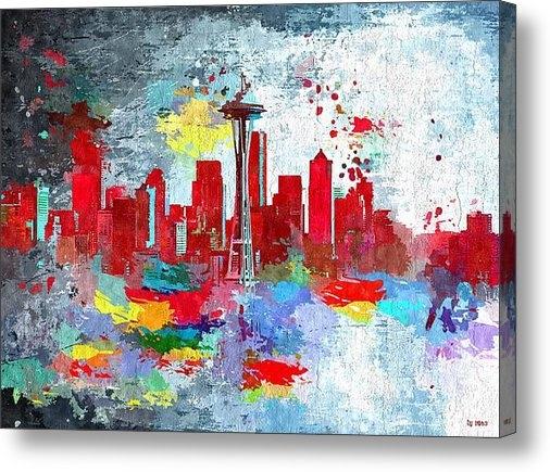 Daniel Janda - City of Seattle Grunge Print