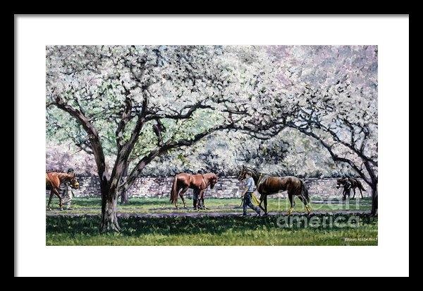 Thomas Allen Pauly - Springtime at Keeneland Print
