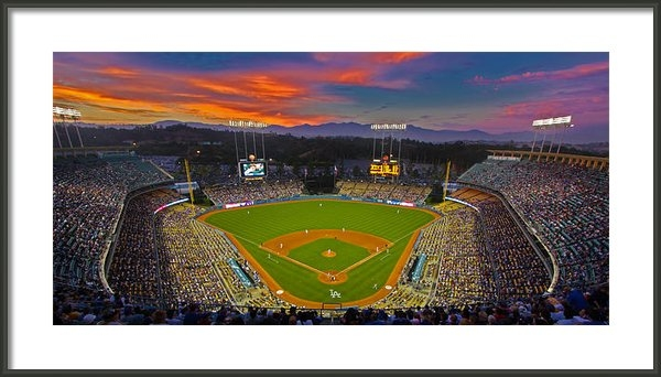 Kevin D Haley - Dodger Stadium Print