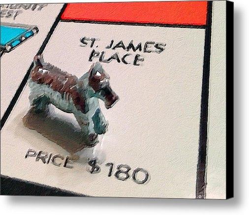 Tony Rubino - Monopoly Board Custom Pai... Print