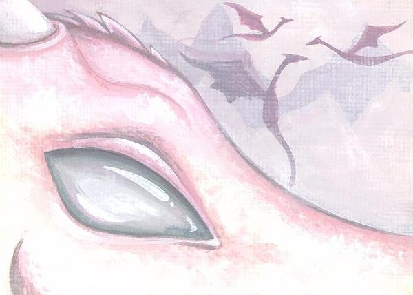 Elaina  Wagner - Dragons Of The Misty Rose... Print