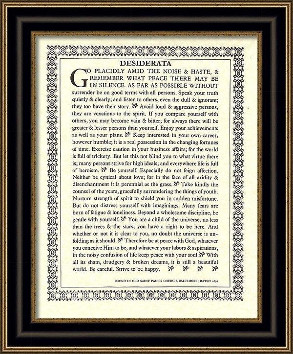 Claudette Armstrong - Desiderata 16 Print