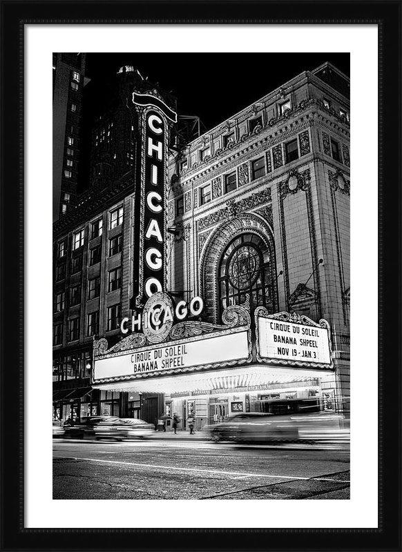 Christopher Arndt - Chicago Theatre Marquee S... Print