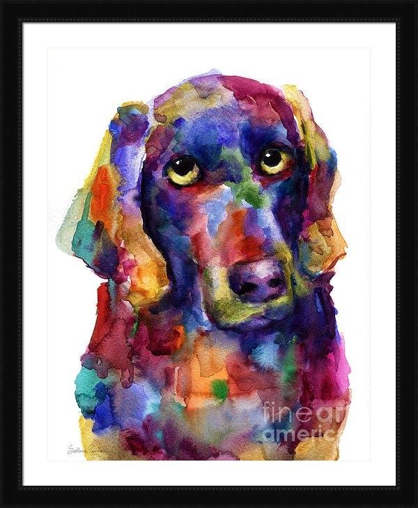 Svetlana Novikova - Colorful Weimaraner Dog a... Print