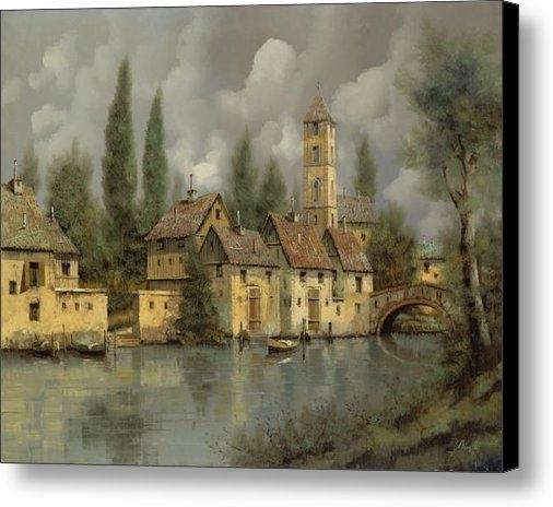 Guido Borelli - Il Borgo Sul Fiume Print