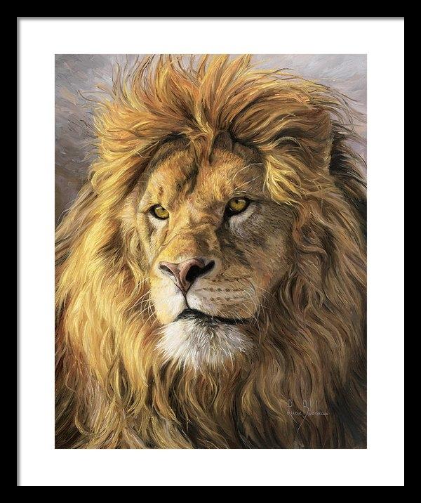 Lucie Bilodeau - Portrait Of A Lion Print