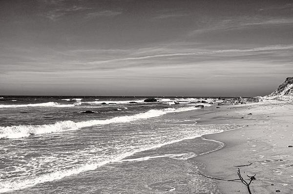Jim Carey - Black and White Surf Print