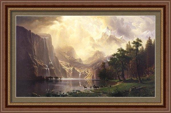 Albert Bierstadt -  Among the Sierra Nevada ... Print