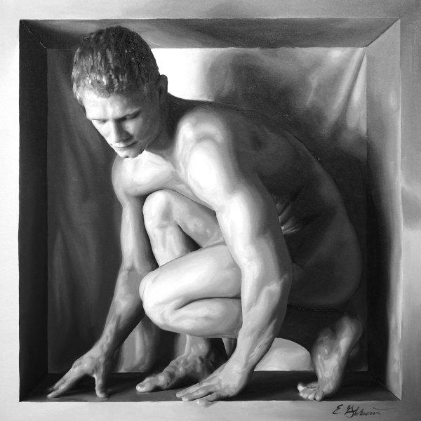 E Gibbons - Downward Glance Print