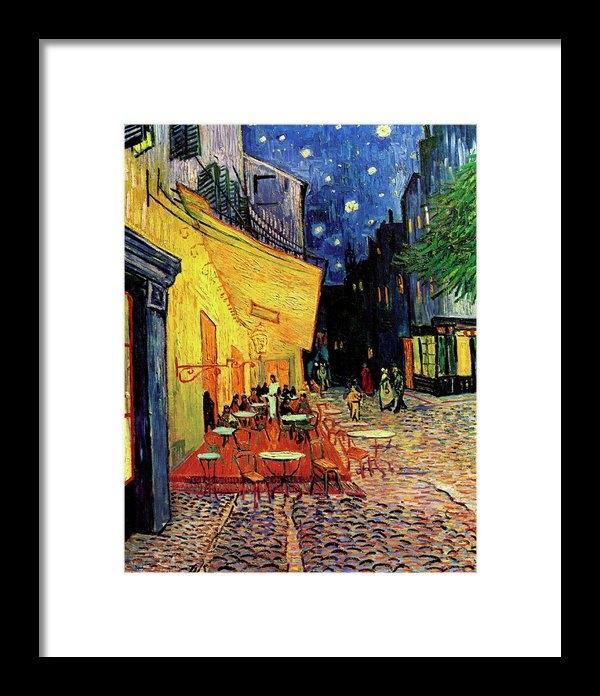 Vincent Van Gogh - Van Gogh Cafe Terrace Pla... Print