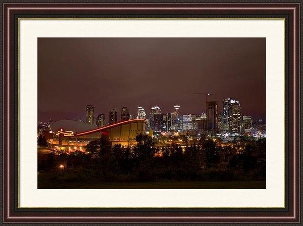 Kevin  Ellis - Calgary Saddle Dome Skyli... Print
