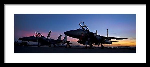 Adam Romanowicz - F-15E Strike Eagles at Du... Print
