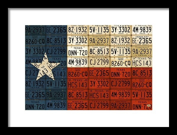 Design Turnpike - Texas Flag The Lone Star ... Print