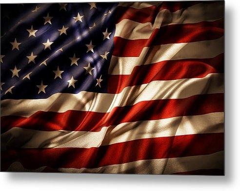 Les Cunliffe - American flag  Print