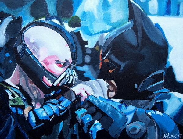Martin Putsey - Batman vs Bane Print