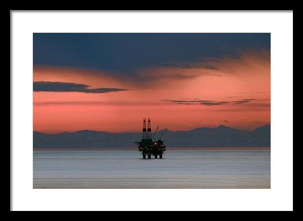 Clint Pickarsky - Cook Inlet Alaska sunset Print