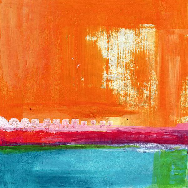 Linda Woods - Summer Picnic- colorful a... Print