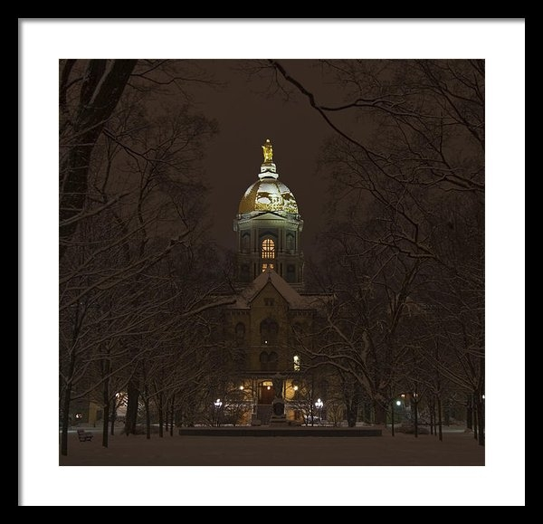 John Stephens - Notre Dame Golden Dome Sn... Print