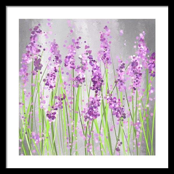 Lourry Legarde - Lavender Blossoms - Laven... Print
