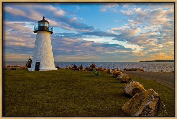 Paul and Janice Russell - Neds Point Lighthouse Print