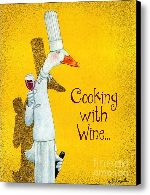 Will Bullas - Cooking with Wine... Print