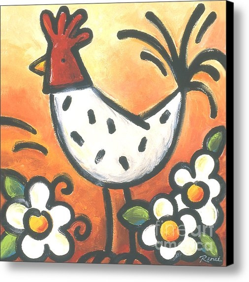 Renee Womack - Flew the Coop -Red Chicke... Print