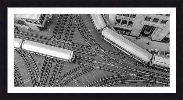 Sabih Jafri - Intersection in Chicago Print