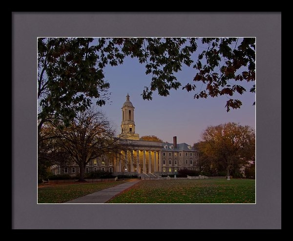 William Ames - Penn State Old Main at Du... Print