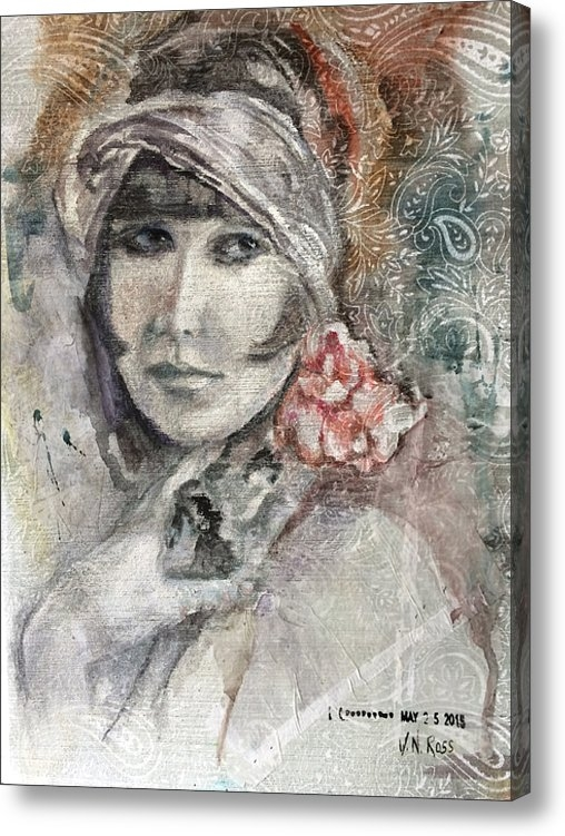 Vicki Ross - Flapper with Peony Print