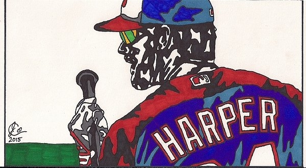 Jeremiah Colley - Bryce Harper 3 Print