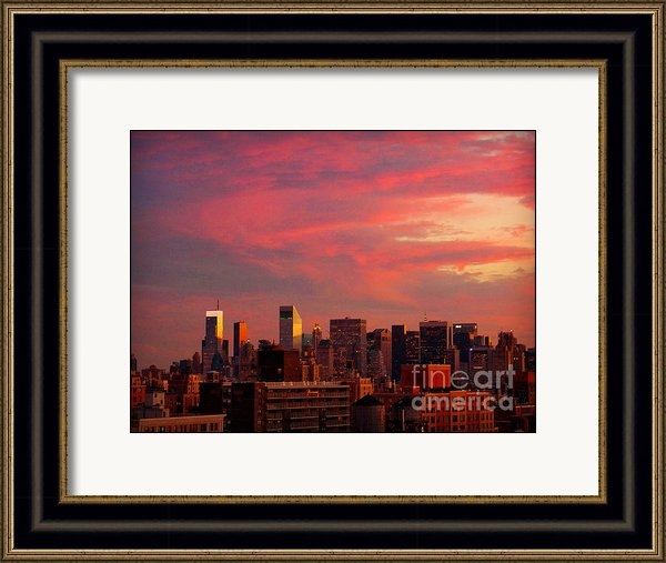 Miriam Danar - Sunset in New York as See... Print