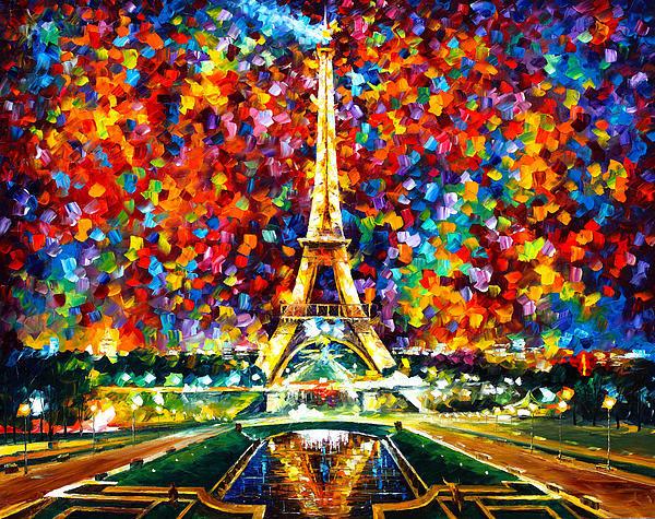 Leonid Afremov - Paris Of My Dreams Print