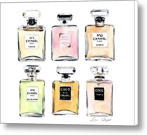 Laura Row Studio - Chanel Perfumes Print
