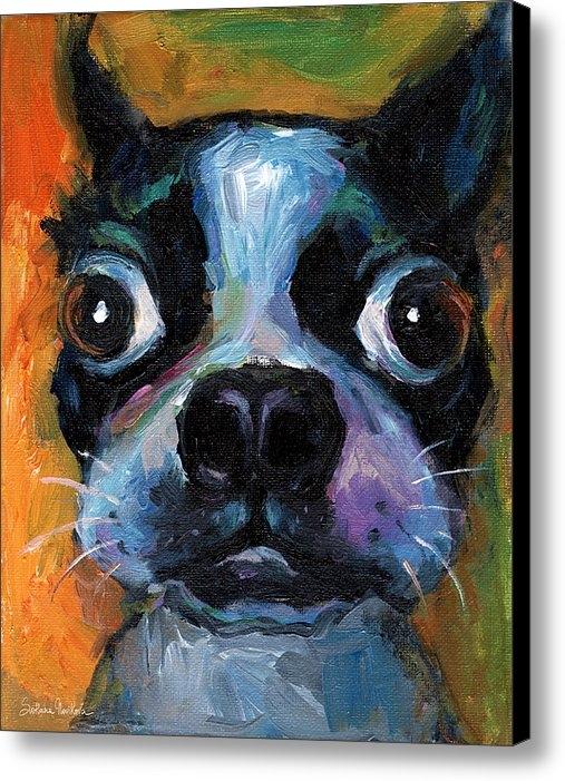 Svetlana Novikova - Cute Boston Terrier puppy... Print