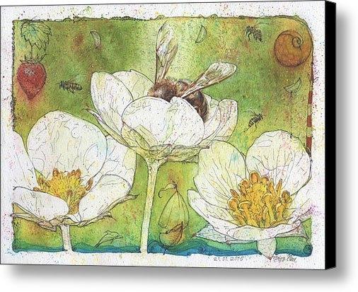 Petra Rau - Strawberries and Bees Print