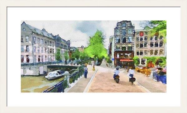 Yury Malkov - Amsterdam Streets 1 Print