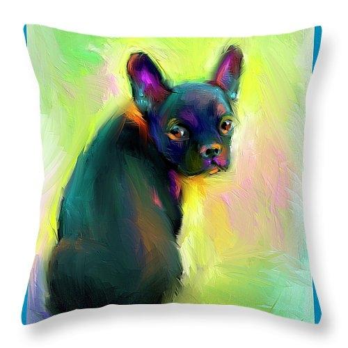 Svetlana Novikova - French Bulldog painting 4 Print