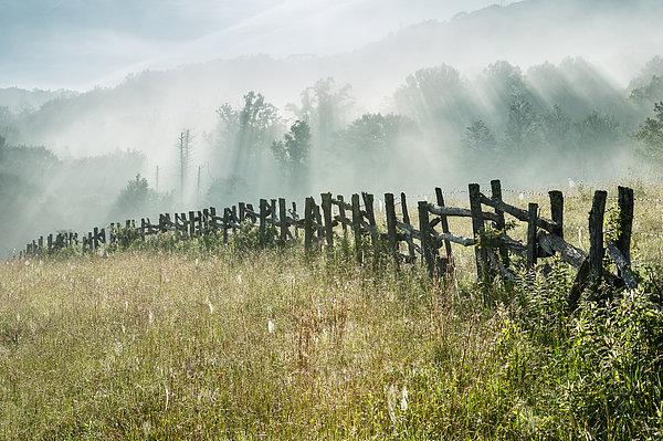 Mark VanDyke - Blue Ridge Parkway Fence ... Print