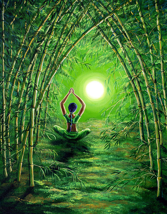Laura Iverson - Green Tara in the Hall of... Print