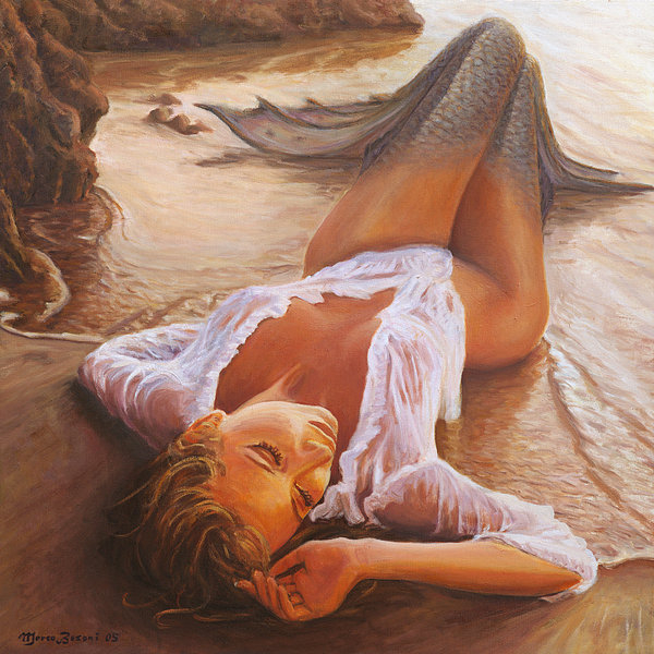 Marco Busoni - A Mermaid In The Sunset -... Print