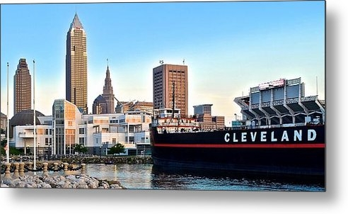 Frozen in Time Fine Art Photography - Cleveland Ohio Panorama Print