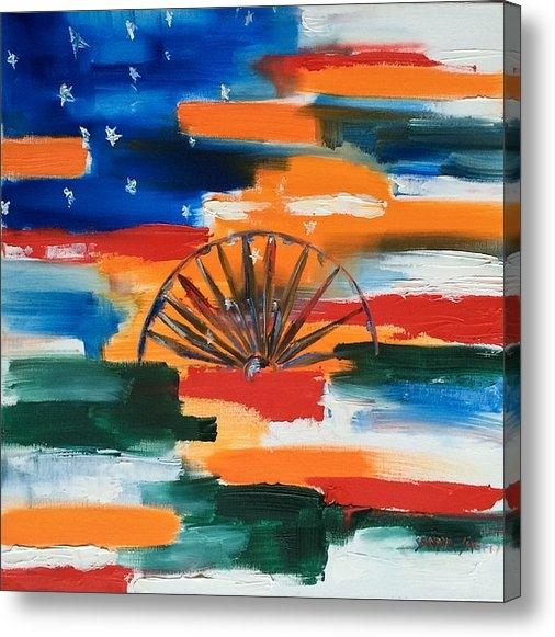 Sandya Shetty - Saffron and Stripes Print
