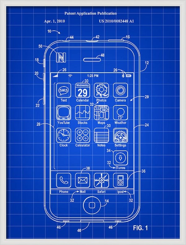 Stephen Younts - iPhone Patent - Blue Print