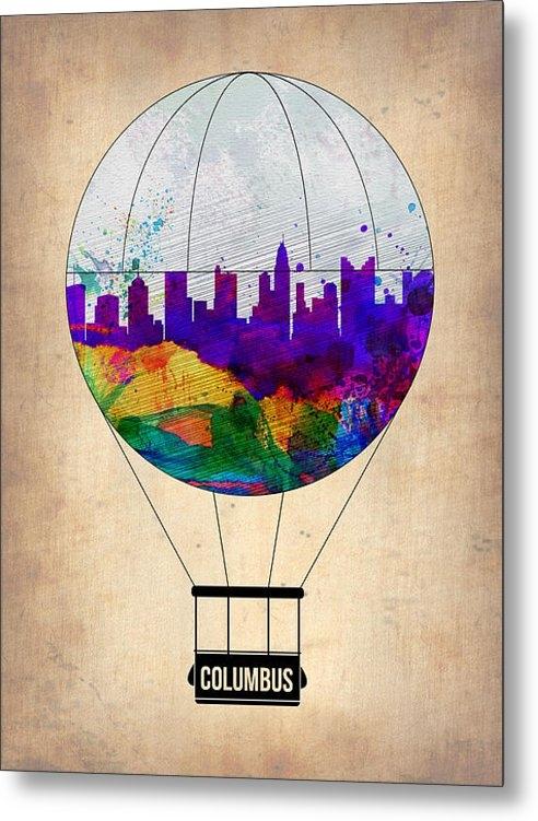 Naxart Studio - Columbus Air Balloon Print