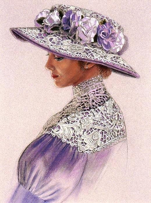 Sue Halstenberg - Victorian Lady in Lavende... Print